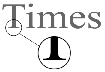 Шрифт с засечками